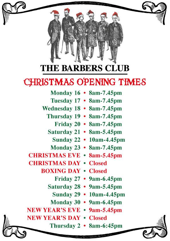 The Barbers Club Christmas Times